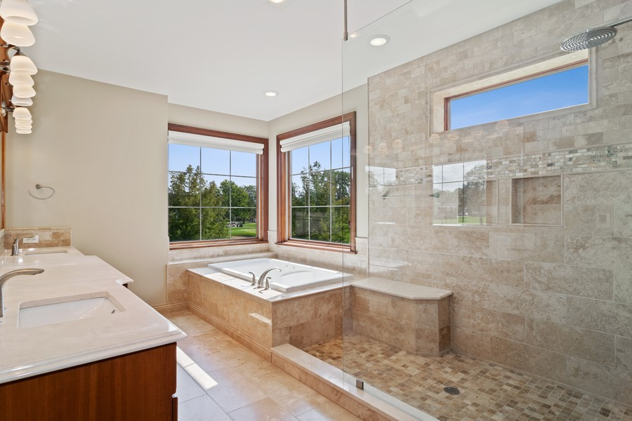Real Estate Photography - 1335 Calcutta Ln, Naperville, IL, 60563 - 2nd floor Master Bathroom