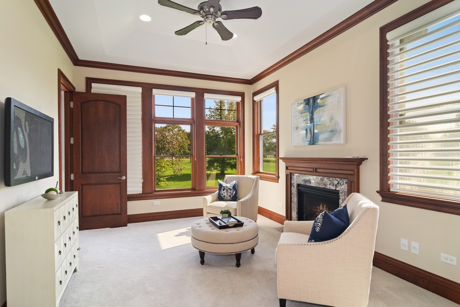 Real Estate Photography - 1335 Calcutta Ln, Naperville, IL, 60563 - 1st Floor Master Suite Sitting Room