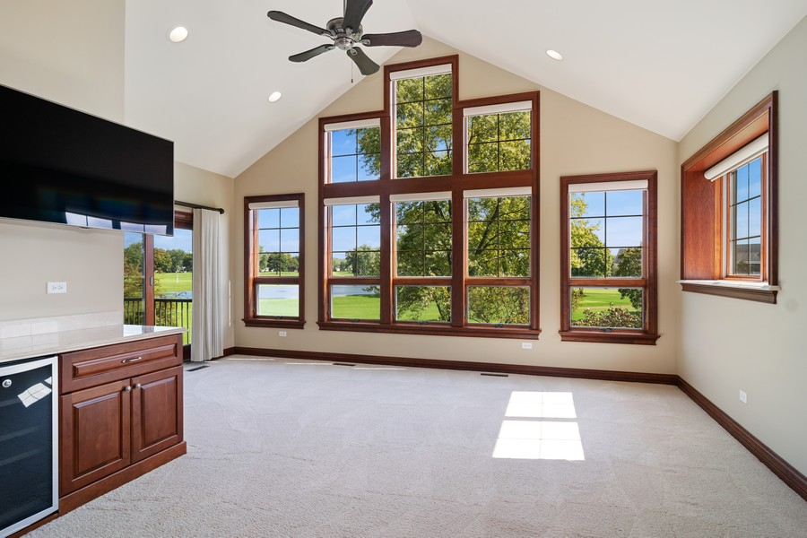 Real Estate Photography - 1335 Calcutta Ln, Naperville, IL, 60563 - 2nd Floor Master Suite Sitting Room
