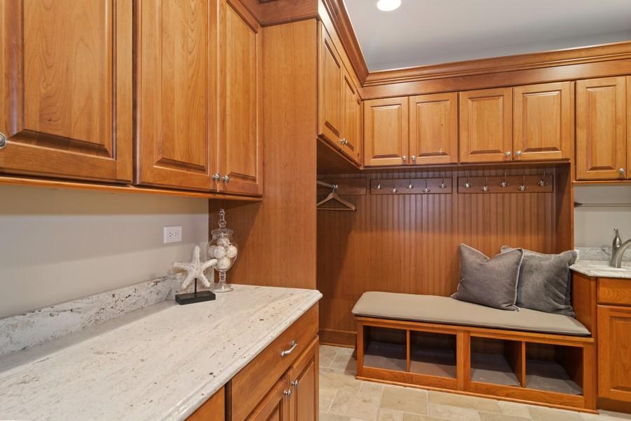 Real Estate Photography - 1335 Calcutta Ln, Naperville, IL, 60563 - Mudroom off Garage