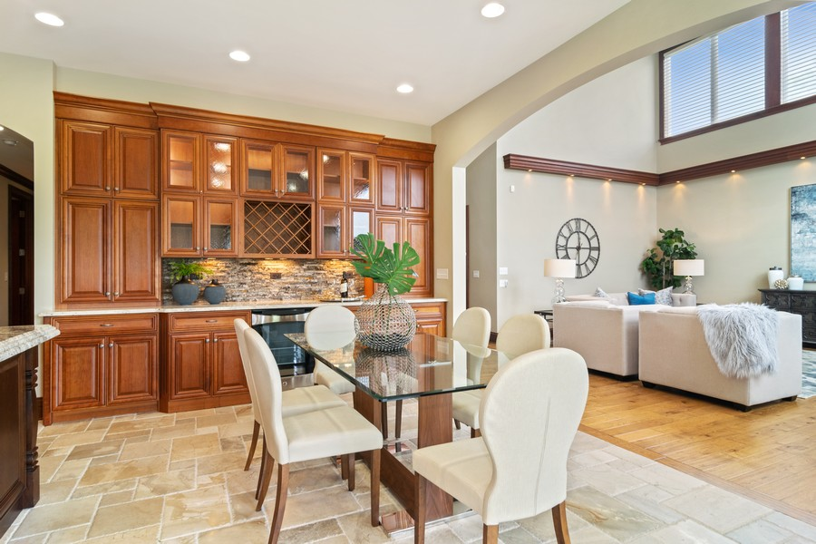 Real Estate Photography - 1335 Calcutta Ln, Naperville, IL, 60563 - Casual Dining with Great Room