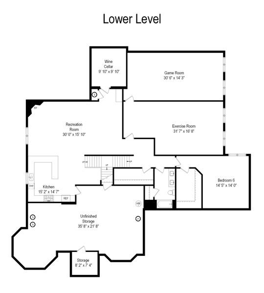 Real Estate Photography - 1335 Calcutta Ln, Naperville, IL, 60563 - Floor Plan