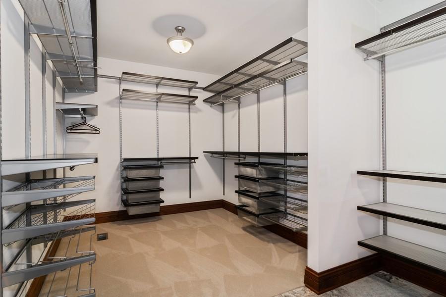 Real Estate Photography - 1335 Calcutta Ln, Naperville, IL, 60563 - Master Bedroom Closet