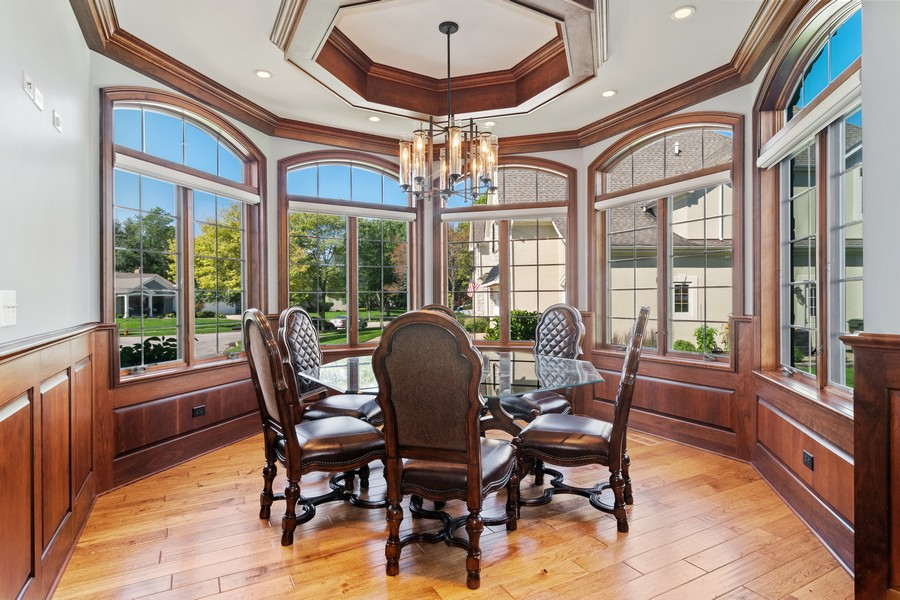 Real Estate Photography - 1335 Calcutta Ln, Naperville, IL, 60563 - Home Office with Conference Room