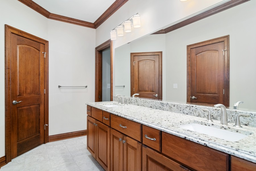 Real Estate Photography - 1335 Calcutta Ln, Naperville, IL, 60563 - Jack & Jill Bathroom (2nd Floor)