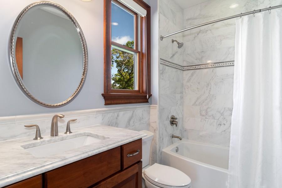 Real Estate Photography - 1335 Calcutta Ln, Naperville, IL, 60563 - Guest Suite Bathroom