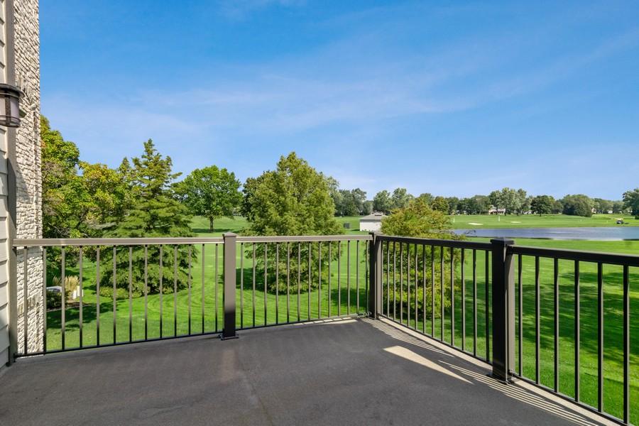 Real Estate Photography - 1335 Calcutta Ln, Naperville, IL, 60563 - Balcony Off Loft & 2nd Floor Master Suite