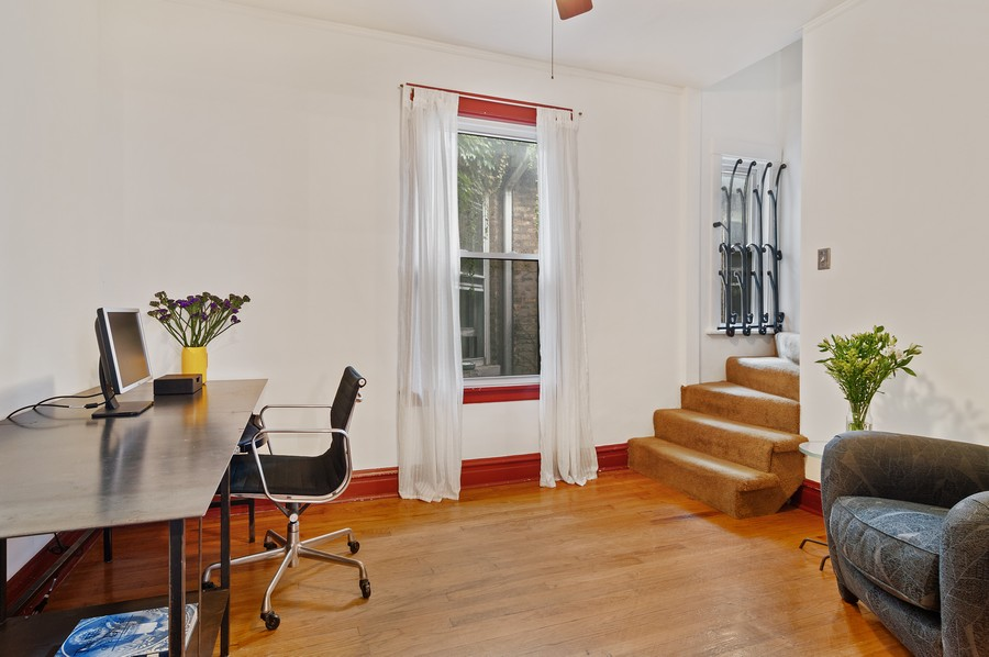 Real Estate Photography - 5029 N Sawyer Ave, Chicago, IL, 60625 - Office