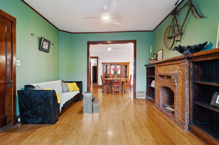 Real Estate Photography - 5029 N Sawyer Ave, Chicago, IL, 60625 - Living Room / Dining Room