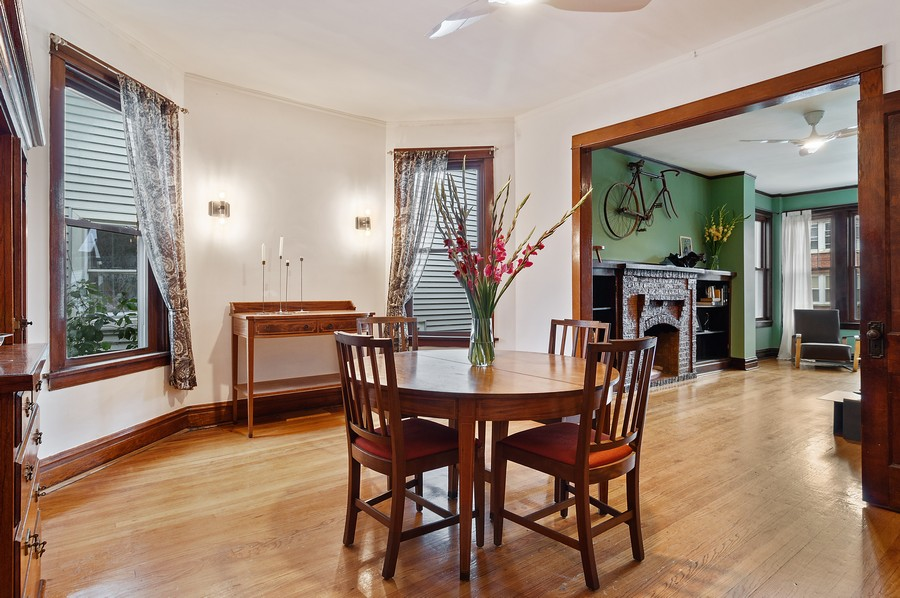 Real Estate Photography - 5029 N Sawyer Ave, Chicago, IL, 60625 - Living Room/Dining Room