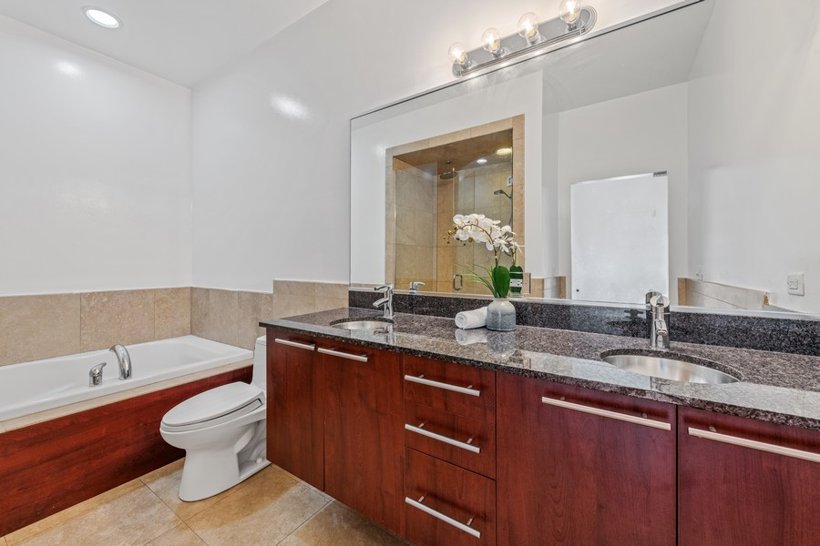 Real Estate Photography - 808 N Greenview, Unit 4C, Chicago, IL, 60642 - Master Bathroom