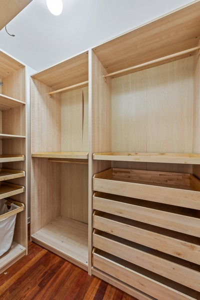 Real Estate Photography - 808 N Greenview, Unit 4C, Chicago, IL, 60642 - Master Bedroom Closet