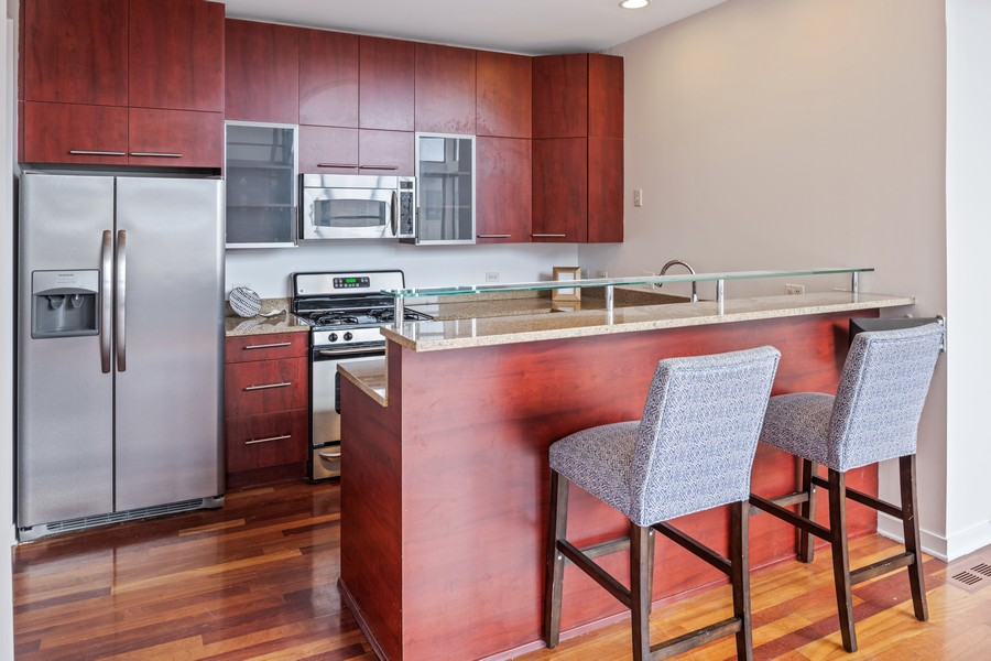 Real Estate Photography - 808 N Greenview, Unit 4C, Chicago, IL, 60642 - Kitchen