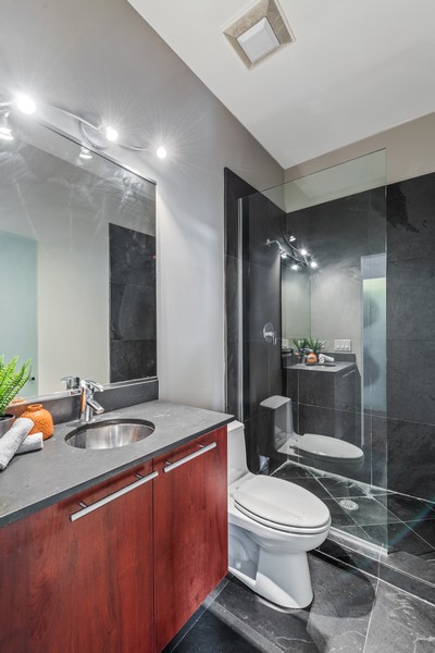 Real Estate Photography - 808 N Greenview, Unit 4C, Chicago, IL, 60642 - Bathroom