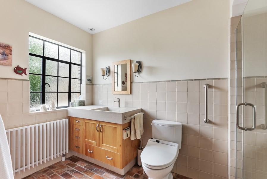 Real Estate Photography - 3545 Golf Rd, Evanston, IL, 60203 - Master Bathroom