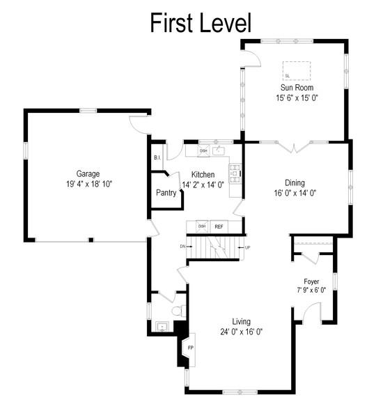 Real Estate Photography - 3545 Golf Rd, Evanston, IL, 60203 - Floor Plan