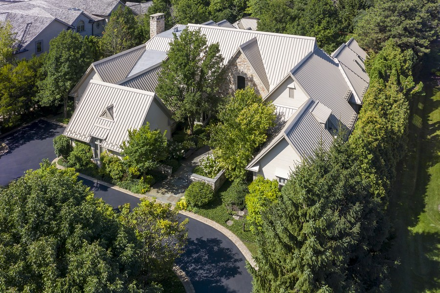 Real Estate Photography - 2350 White Oak Drive, Northbrook, IL, 60062 - Front Aerial View