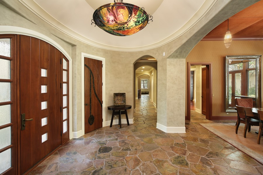 Real Estate Photography - 2350 White Oak Drive, Northbrook, IL, 60062 - Foyer