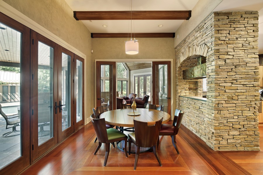 Real Estate Photography - 2350 White Oak Drive, Northbrook, IL, 60062 - Breakfast Room off Kitchen