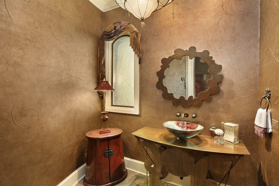 Real Estate Photography - 2350 White Oak Drive, Northbrook, IL, 60062 - Powder Room