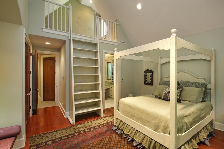 Real Estate Photography - 2350 White Oak Drive, Northbrook, IL, 60062 - En Suite Bedroom with Reading Loft