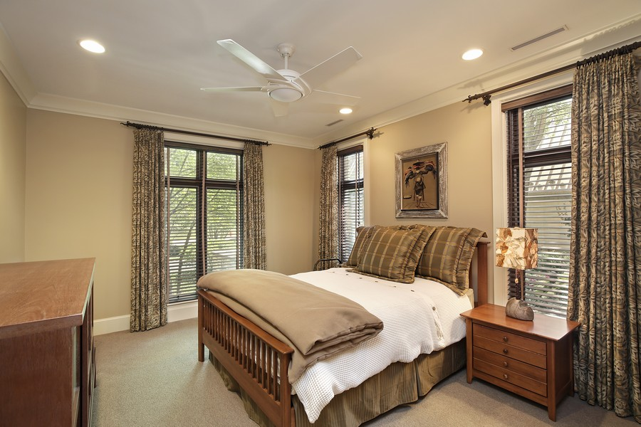 Real Estate Photography - 2350 White Oak Drive, Northbrook, IL, 60062 - En Suite Guest Bedroom