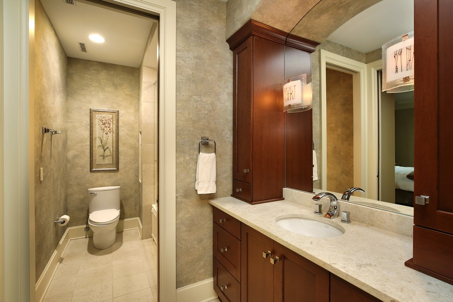 Real Estate Photography - 2350 White Oak Drive, Northbrook, IL, 60062 - Guest Bathroom