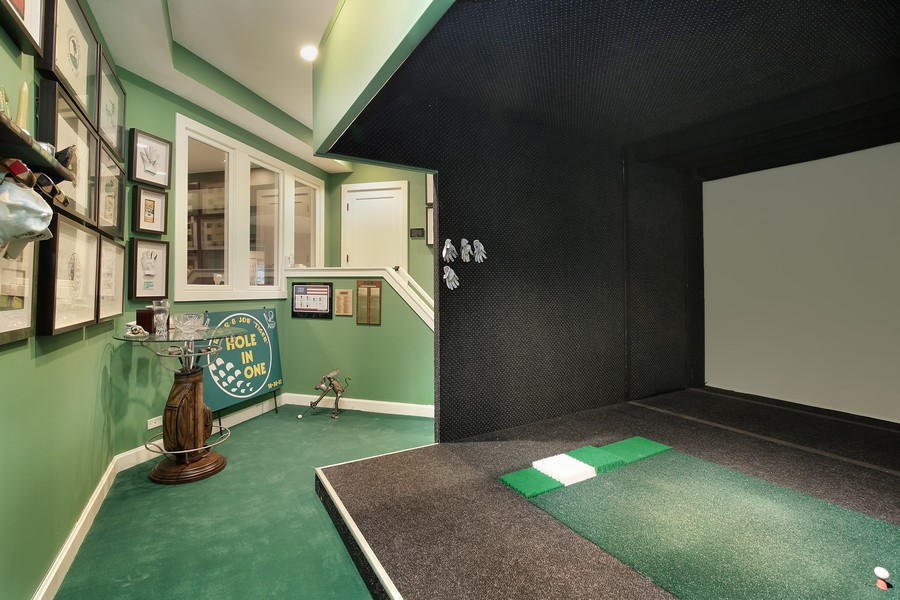 Real Estate Photography - 2350 White Oak Drive, Northbrook, IL, 60062 - Golf Simulator Room