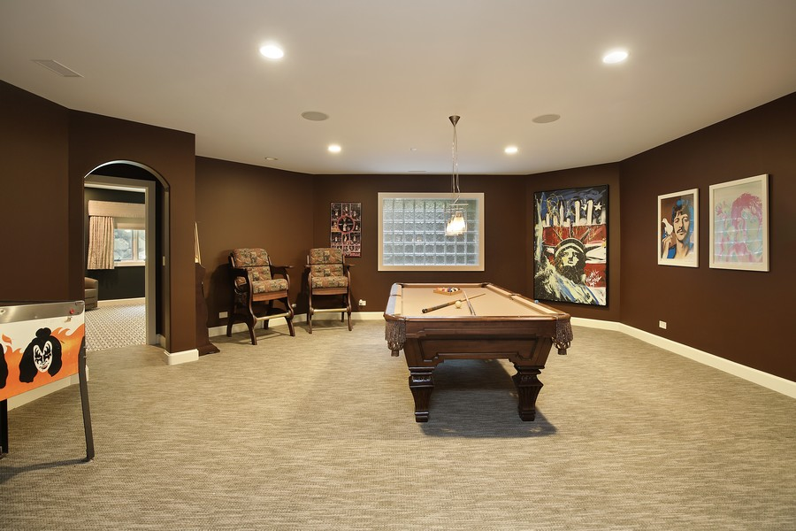 Real Estate Photography - 2350 White Oak Drive, Northbrook, IL, 60062 - Game Room