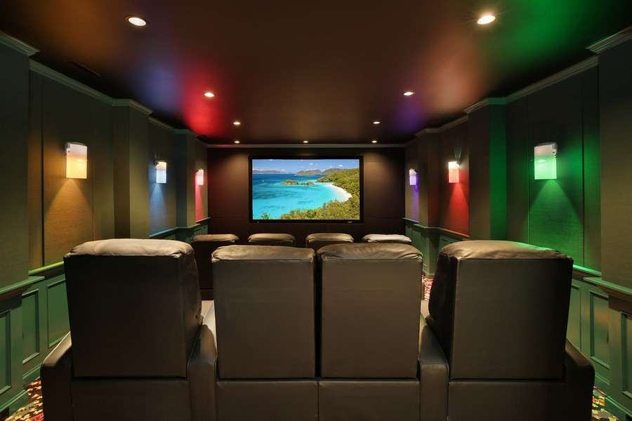 Real Estate Photography - 2350 White Oak Drive, Northbrook, IL, 60062 - Home Theatre