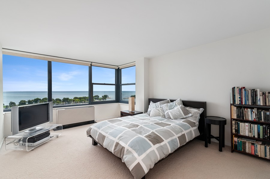 Real Estate Photography - 3430 N Lake Shore Drive, 16H, chicago, IL, 60657 - Master Bedroom