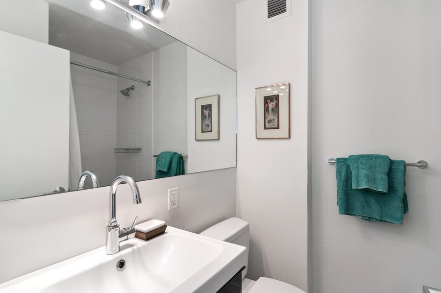 Real Estate Photography - 3430 N Lake Shore Drive, 16H, chicago, IL, 60657 - 2nd Bathroom