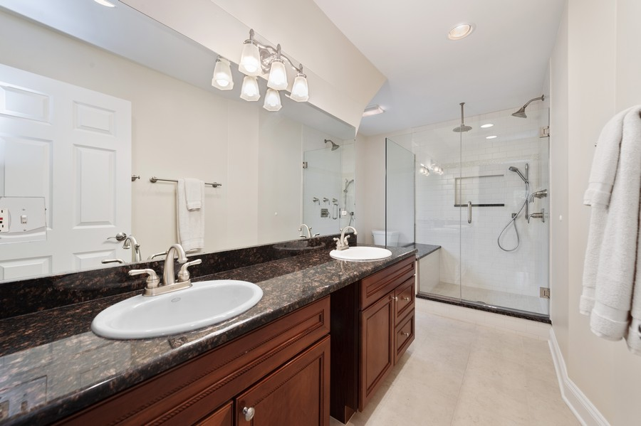 Real Estate Photography - 4200 Rose Avenue, Western Springs, IL, 60558 - Master Bathroom