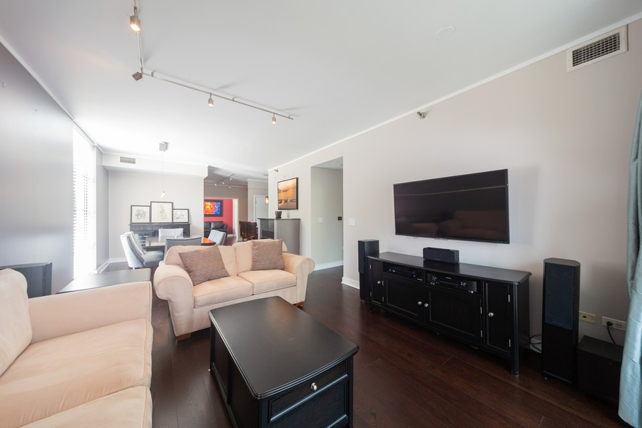 Real Estate Photography - 744 N Clark St., Unit 601, Chicago, IL, 60654 - Living Room