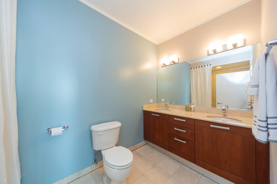 Real Estate Photography - 744 N Clark St., Unit 601, Chicago, IL, 60654 - Master Bathroom