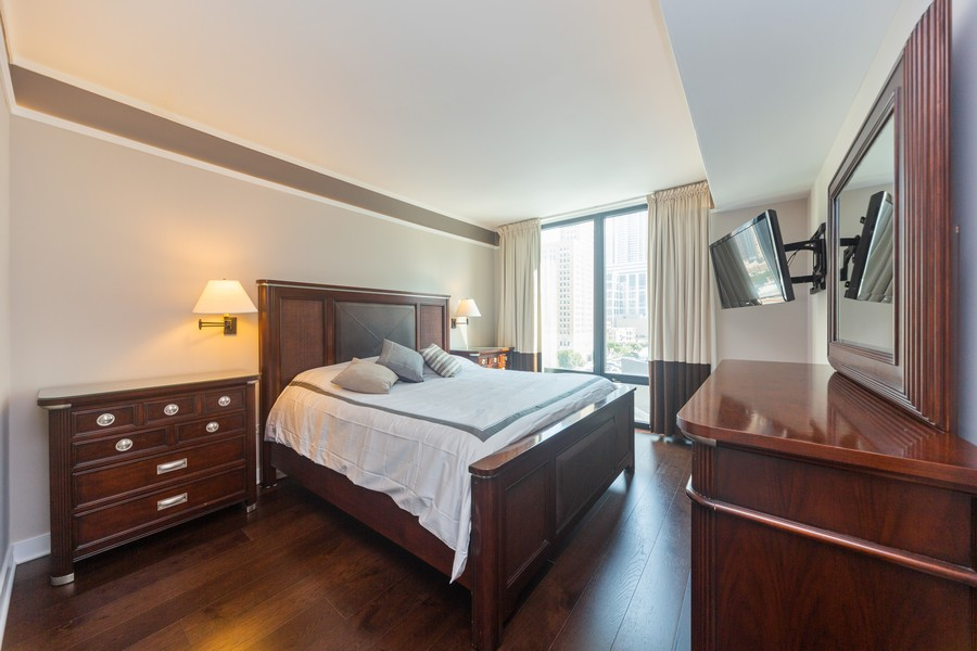 Real Estate Photography - 744 N Clark St., Unit 601, Chicago, IL, 60654 - Master Bedroom
