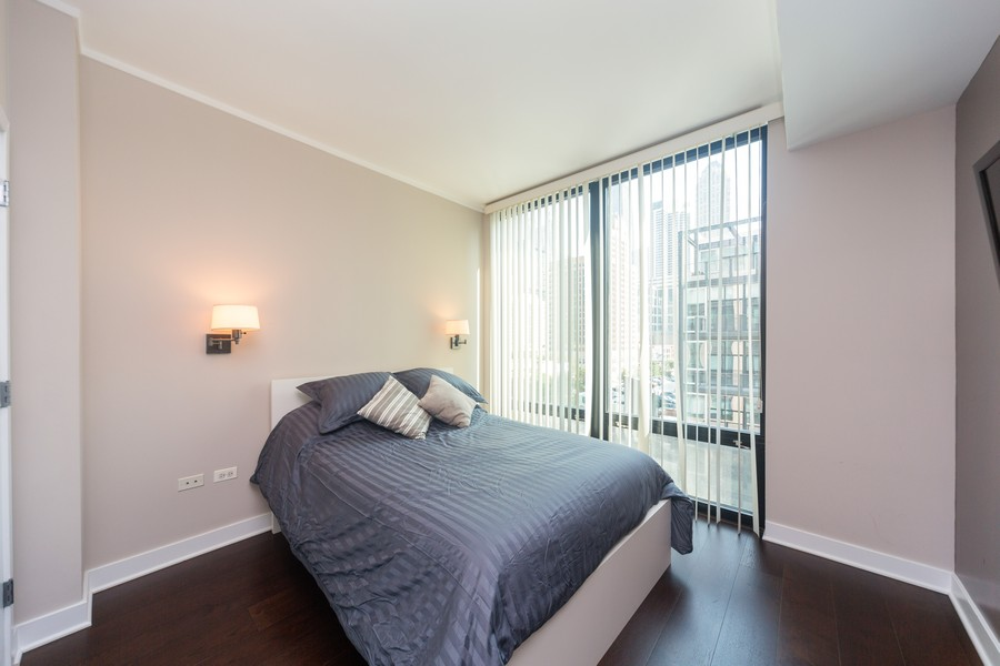 Real Estate Photography - 744 N Clark St., Unit 601, Chicago, IL, 60654 - Bedroom