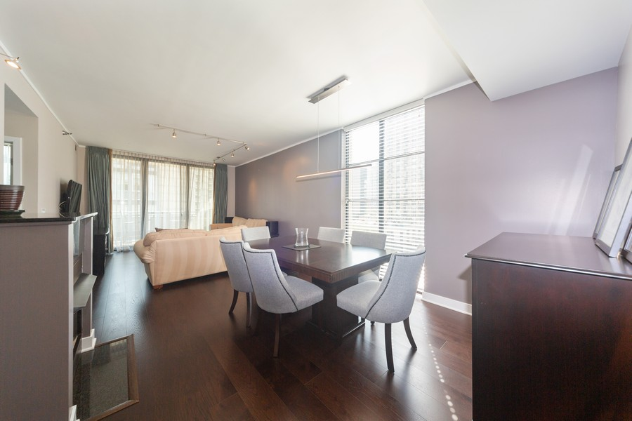 Real Estate Photography - 744 N Clark St., Unit 601, Chicago, IL, 60654 - Dining Room