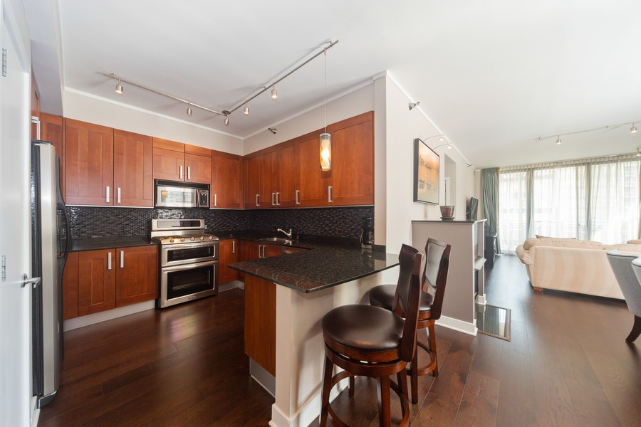 Real Estate Photography - 744 N Clark St., Unit 601, Chicago, IL, 60654 - Kitchen