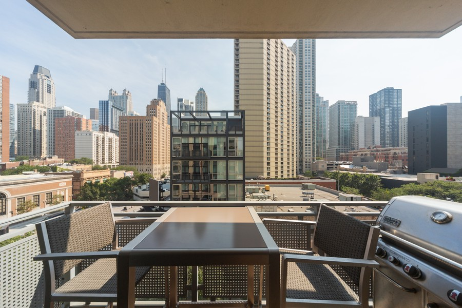 Real Estate Photography - 744 N Clark St., Unit 601, Chicago, IL, 60654 - Deck