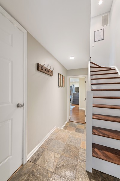 Real Estate Photography - 1755 N Hermitage #A, Chicago, IL, 60622 - Foyer and Attached Garage