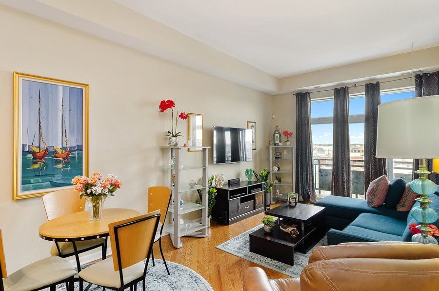 Real Estate Photography - 2317 W. Wolfram #513, Chicago, IL, 60618 - Living Room / Dining Room