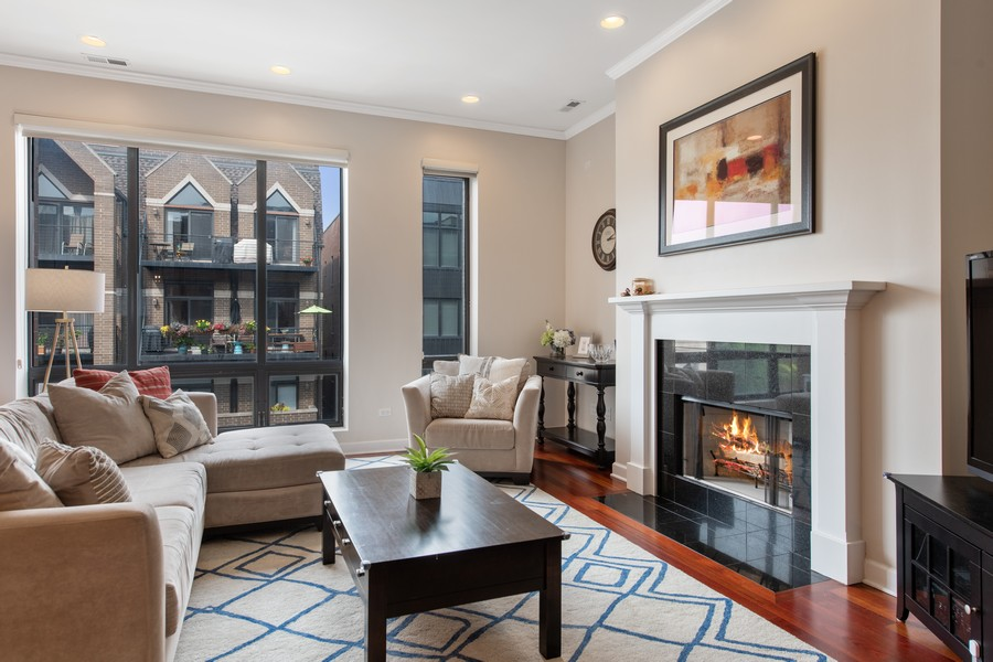 Real Estate Photography - 2239 W. North Ave., 3B, Chicago, IL, 60647 - Living Room