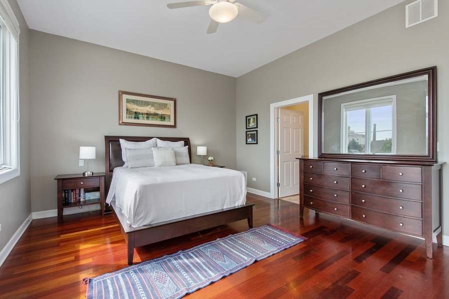 Real Estate Photography - 2239 W. North Ave., 3B, Chicago, IL, 60647 - Master Bedroom