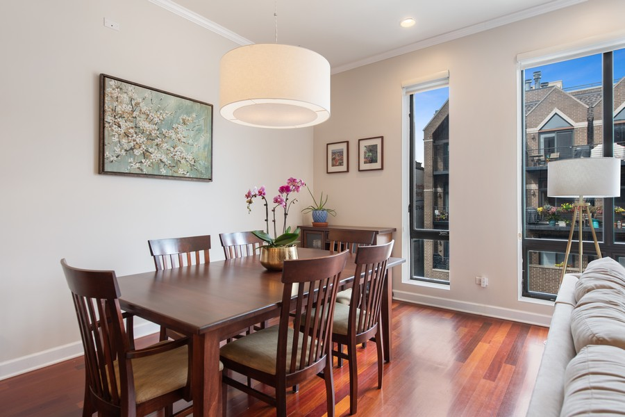 Real Estate Photography - 2239 W. North Ave., 3B, Chicago, IL, 60647 - Dining Room
