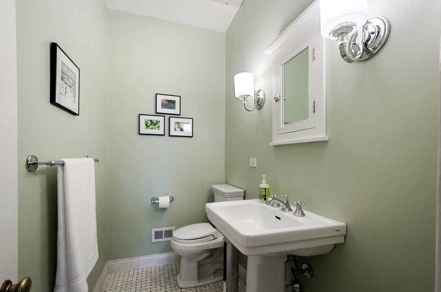 Real Estate Photography - 2749 Woodbine Avenue, Evanston, IL, 60201 - Powder Room