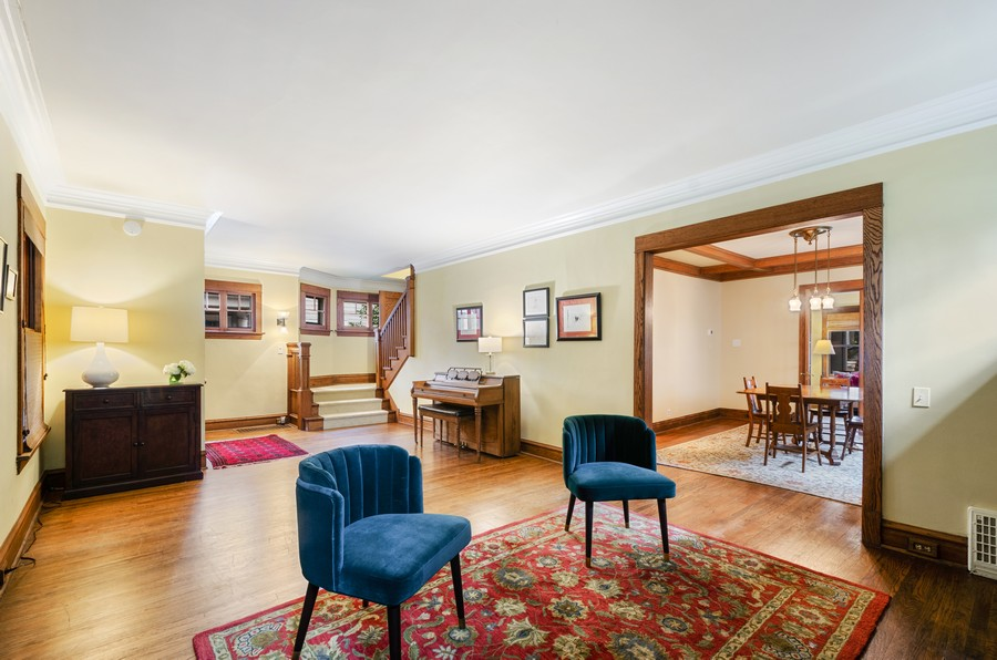 Real Estate Photography - 2749 Woodbine Avenue, Evanston, IL, 60201 - Living Room / Dining Room