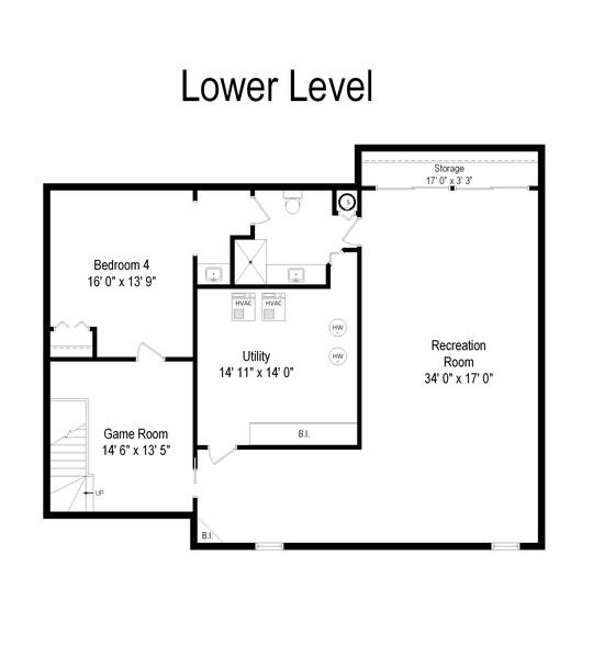 Real Estate Photography - 3 Sara Lane, Barrington, IL, 60010 - Floor Plan