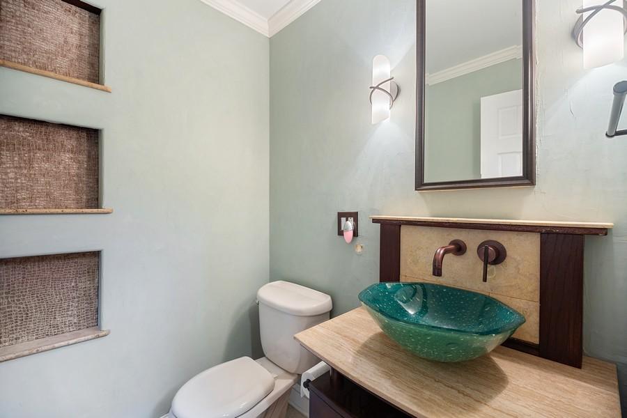 Real Estate Photography - 3 Sara Lane, Barrington, IL, 60010 - Half Bath