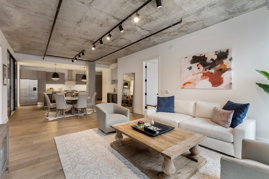 Real Estate Photography - 111 S Peoria St, Chicago, IL, 60607 - Living Room